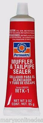 New PERMATEX 80335 MUFFLER & TAILPIPE EXHAUST SEALER for Holes & Leaks 3 oz Tube