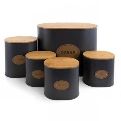 Kitchen Food Storage and Organization 5 Piece Canister Set