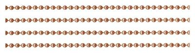 Solid COPPER BALL CHAIN 10 Feet 3.2mm #6 + Plus 5 connectors ~ BULK LOT Footage