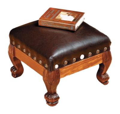 Cool Wood And Faux Leather Small Foot Stool Beatyapartments Chair Design Images Beatyapartmentscom