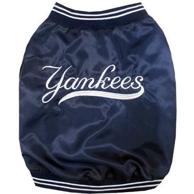 New York Yankees MLB Pets First Pet Dog Dugout Jacket Navy Sizes S-L