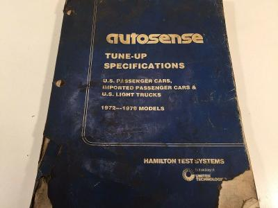 1972 - 1979 Autosense Tune-Up Specifications - Hamilton Test Systems