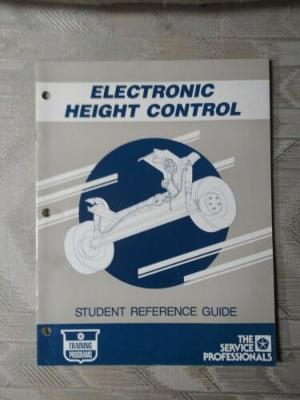 Chrysler Electronic Height Control Student Reference Guide Training Manual...