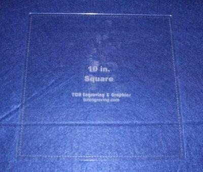 """Square Template 10"""" - Clear 1/8"""" with Seam Allowance"""
