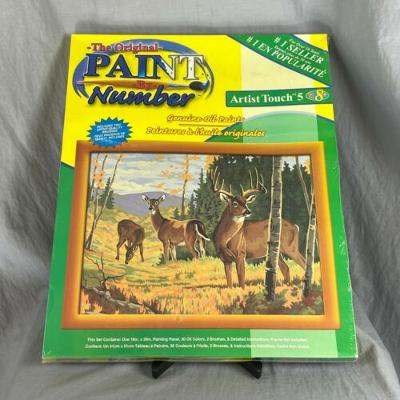 Craft House Wooded Sanctuary Deer Oil Paint By Number 16 x 20 New Sealed 2002
