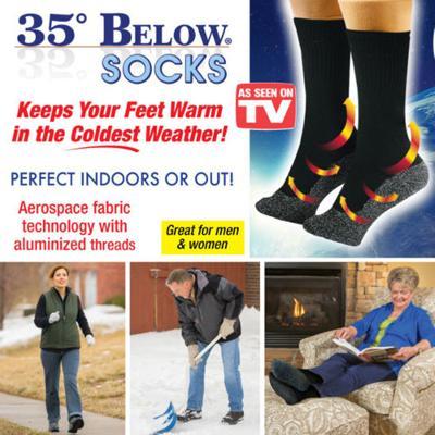 3 pair-35 Below Socks Large Black
