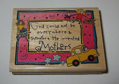 God Could Not Be Everywhere Therefore He Invented Mothers Rubber Stamp Laundry