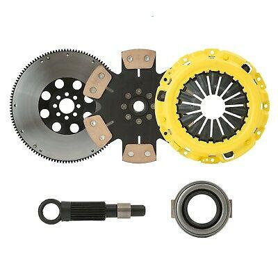 STAGE 4 SOLID RACE CLUTCH KIT+FLYWHEEL fits 1985 TOYOTA MR2 1.6L 4AGE RWD by CXP