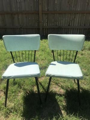 Mid-Century Modern Dining Chairs by Daystrom Furniture Blue And black Set Of 2