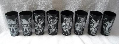8 New Sailor Jerry Spiced rum plastic cups glasses 13 oz hula girl anchor eagle
