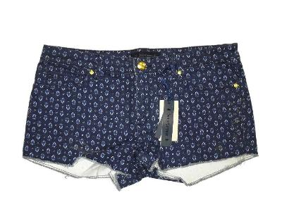 Juicy Couture Regal Starseed Blossom dark blue print cut off Shorts size 27