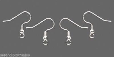 200 SILVER Plated Stainless Steel Ear Wires ~ Earrings French Hooks 100 pairs