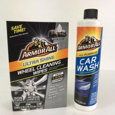 Armor All Fathers Day Gift Car Kit Ultra Shine Wheel Wipes Car Wash Lift Away