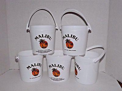 7 Off On Set Of 5 Malibu Rum Plastic Drink Buckets With