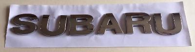 Subaru chrome letter badge emblem for rear boot
