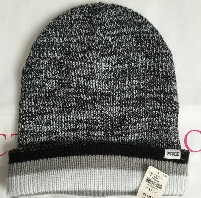 NEW VICTORIA'S SECRET PINK MULTI COLOR ONE SIZE FITS ALL BEANIE #5444
