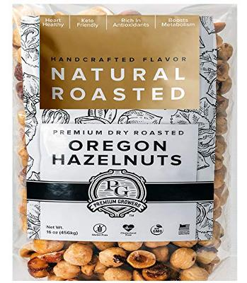Oregon Farm To Table Hazelnuts from Premium Growers - Dry Roasted - Natural Roas