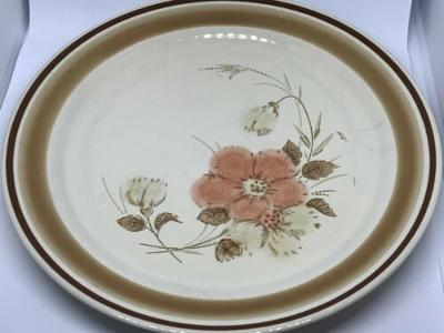 "Watercolors Blush Pattern Stoneware by Hearthside Salad Plate 7 5/8"""