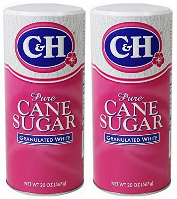 C&H Pure Cane Granulated Sugar, 20 Oz Easy Pour Reclosable Top Canister (Pack of