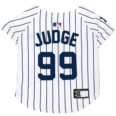 AARON JUDGE #99 New York Yankees MLBPA Officially Licensed Pinstripe Dog Jersey