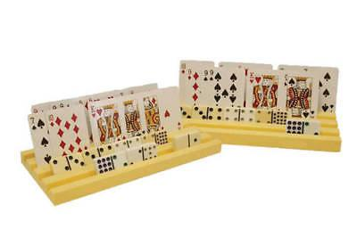 2 Domino Racks and Card Holders Dominoes Mexican Train Game Holder Rummy Poker