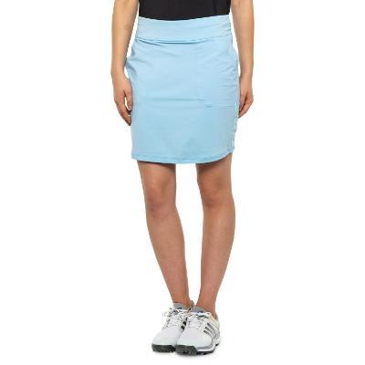 BELYN KEY Stretch Jersey KEYSTONE Sky Blue PULL ON Golf SKORTS Womens LARGE NEW