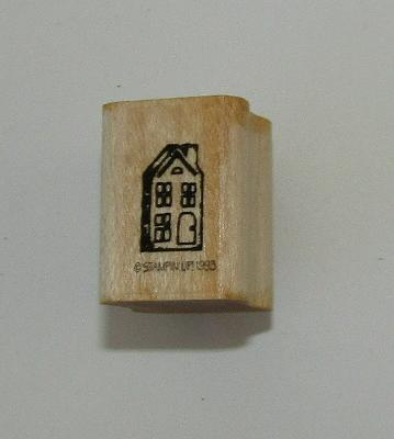 House Rubber Stamp Stampin Up Mini Wood Mounted Retired Home