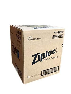 Ziploc Perfect Portions - Sealed Manufacturer Case Pack of 12 (75 Count Each) -