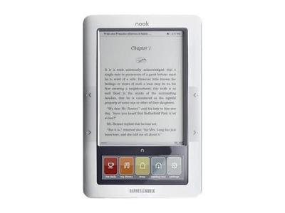 Barnes & Noble 3G Wi‑Fi Nook E‑Book Reader White/Gray(BNRZ100)