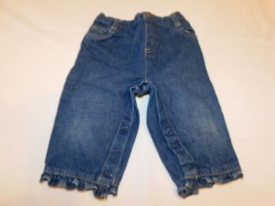 Arizona Jeans Co Girl's Pants Denim Blue Jeans Size 6-9 Months GUC Pre-owned