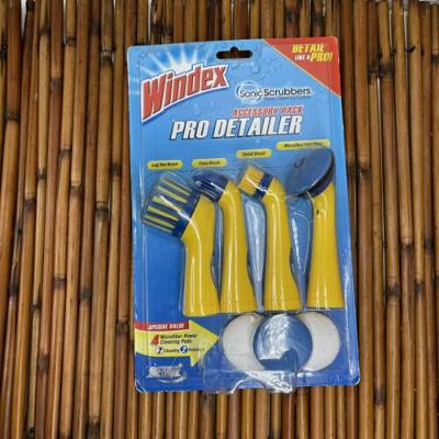 Sonic Scrubbers Power Cleaning System Brushes Windex Pro Detailer Accessory Pack