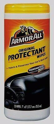 25ct ARMOR ALL Vehicle Protectant Wipees Protects Vinyl Rubber Plastic UV 17496C