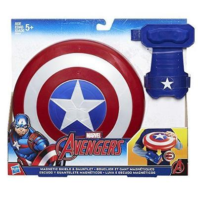 Marvel Comics Avengers Captain America Magnetic Shield & Gauntlet Collection