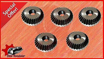 """5 x NEW HSS 1"""" 45 DEGREE VALVE SEAT CUTTER FOR MOTERCYCLE, CAR, JEEP & BUS"""