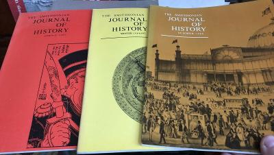 Smithsonian Journal Of History Set Of Three Issues 1960s