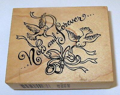Now and Forever Rubber Stamp PSX Doves Wedding Rings Wedding Marriage