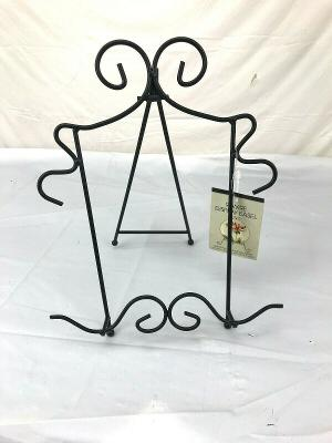 Black Wire Plate Picture Book Stand Metal Black