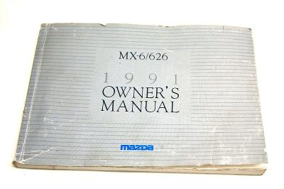 1991 MAZDA MX-6 / 626 Owners Manual Guide OEM USED