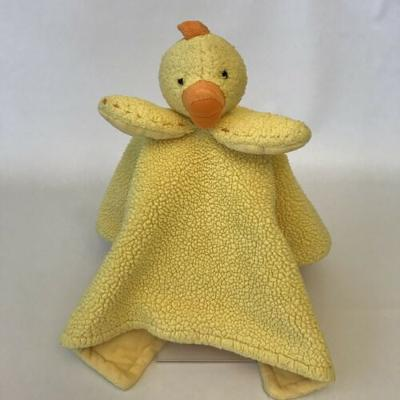 Pottery Barn Kids Yellow Chicken Baby Chick Duck Plush Security Blanket Lovey
