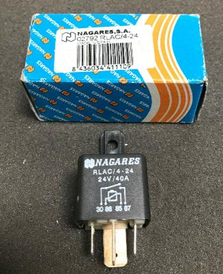 RLAC/4-24 Nagares, 24V 40A Black Contactor, Normally Open Relays Multi-Purpose