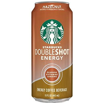 Starbucks, Doubleshot Energy Drink, Hazelnut, 15 fl oz. cans (12 Pack)