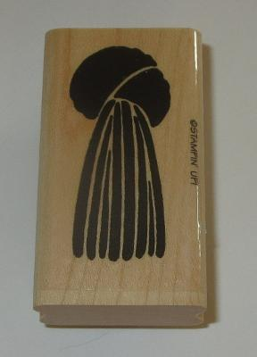 "Tassel Rubber Stamp Stampin' Up! Retired 2.25"" High Wood Mounted Curtains Grad"