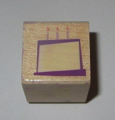 Birthday Cake Rubber Stamp Candles Hero Arts Wood Mounted