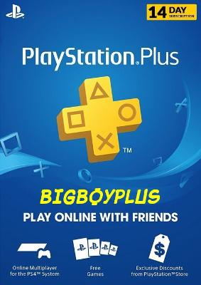 PlayStation Plus (PS) - 14 Day Trial Subscription PS3 PS4 PS VITA (NO CODE)