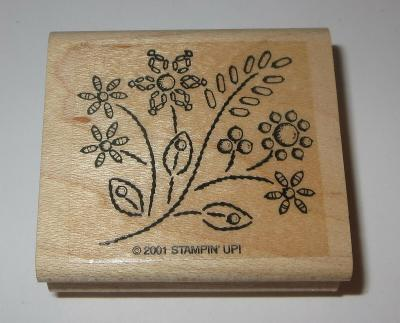 Flowers Stampin' Up! Rubber Stamp Retired Garden Bouquet Wood Mounted Rare