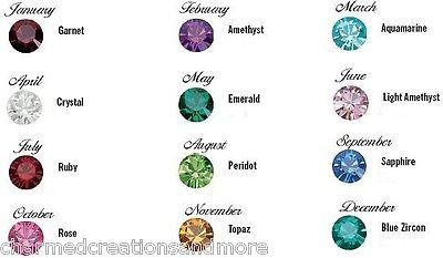 Wholesale Lot 4mm 12 Birthstone Floating Charms Fits Our Glass Memory Lockets