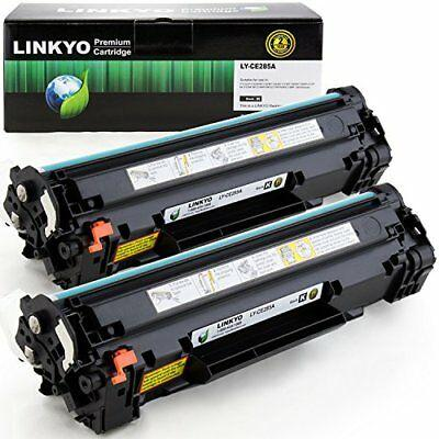 LINKYO Compatible Toner Cartridges Replacement for HP 85A CE285A Black 2-Pack