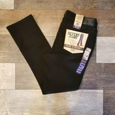 Mens 7 Jeans Slim Stretch Black 36x34 New With Tags! Beautiful Quality Jeans $79