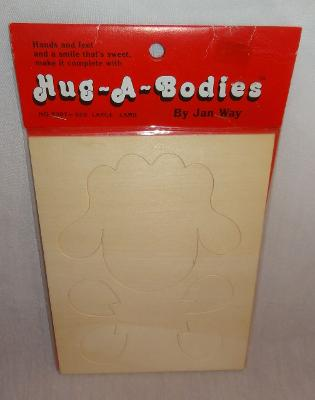 New Old Stock Hug-A-Bodies Large Lamb Wooden Kit Cut-Out Jan Way Craft #8307-020