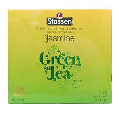Jasmine Green Tea Contains 100 Enveloped Tea Bags (Package Might Vary)